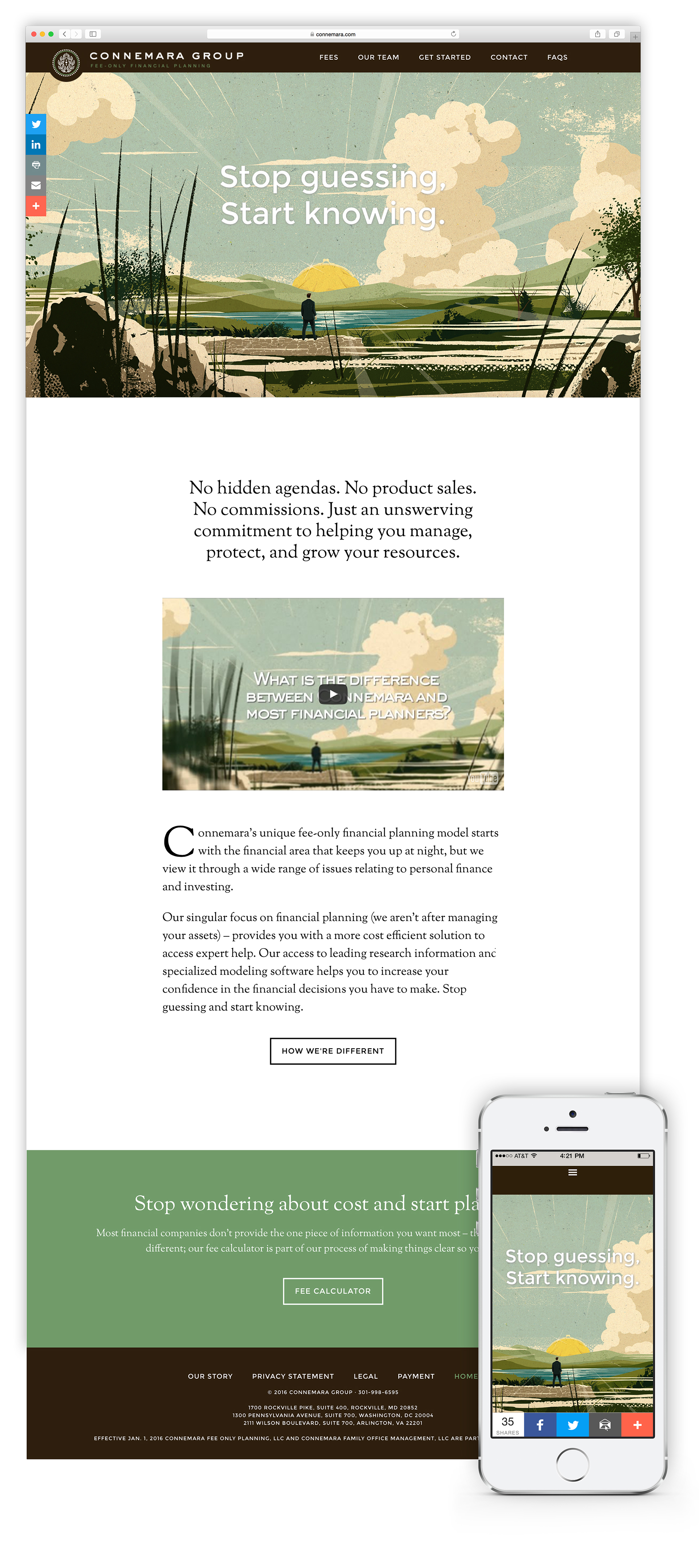 Responsive website for financial group